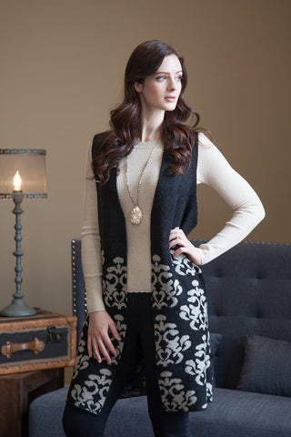 Anne Sleeveless Sweater Jacket