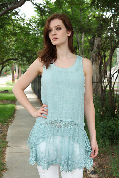 Lindsey Tunic in Misty Teal