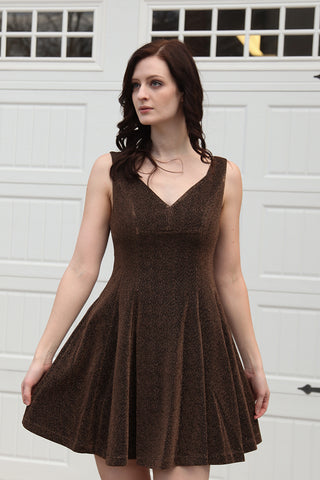 Copper Fit and Flare Dress