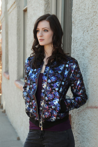Jezebel Floral Metallic Jacket