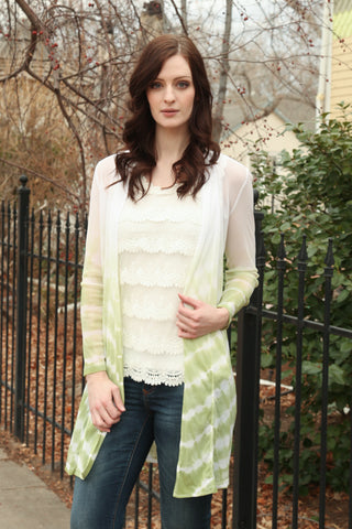 Open Cardigan in White Asparagus