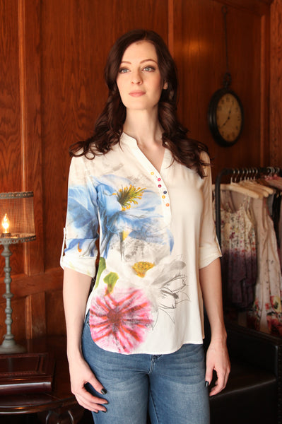 Jaipur Button Blouse