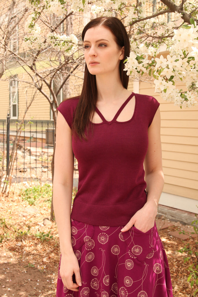 Pele Blouse in Mulberry