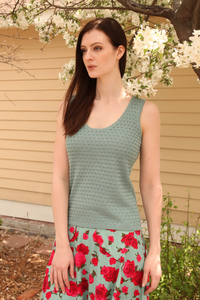 Sandcastle Blouse in Seaglass