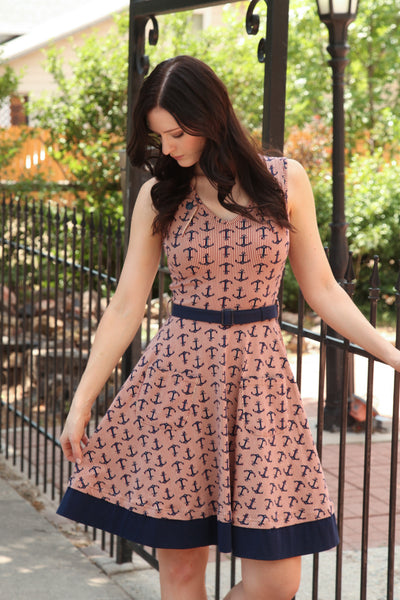 Sophia Dress in Anchors Aweigh
