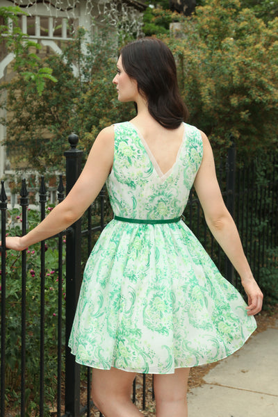 Floral Paisley Fit & Flare Dress
