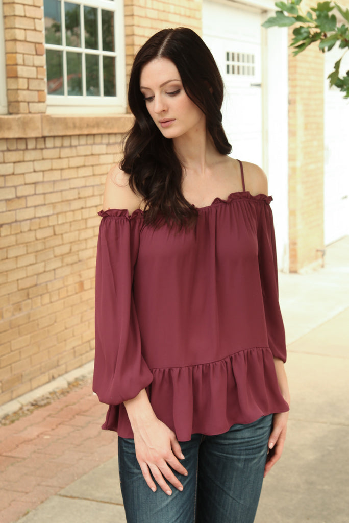 Juliet Ruffle Trim Top
