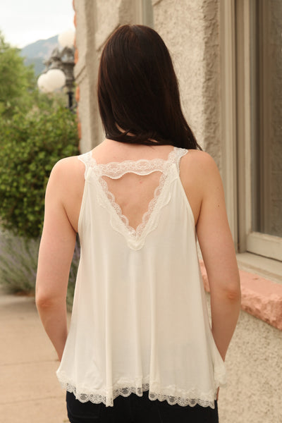 Gracie Lace Trim Halter Top