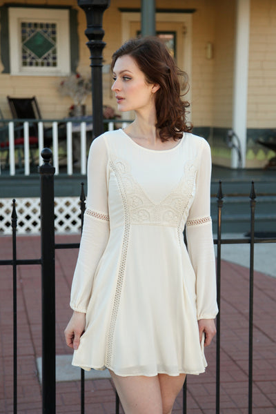 Kaidence Dress in Whisper White
