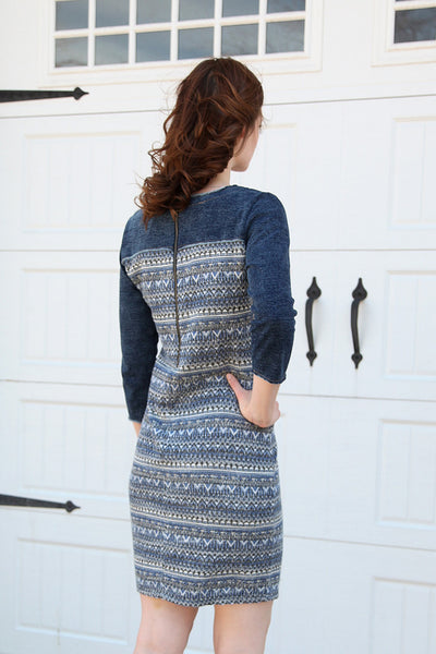 Galley Dress in Blue Multi