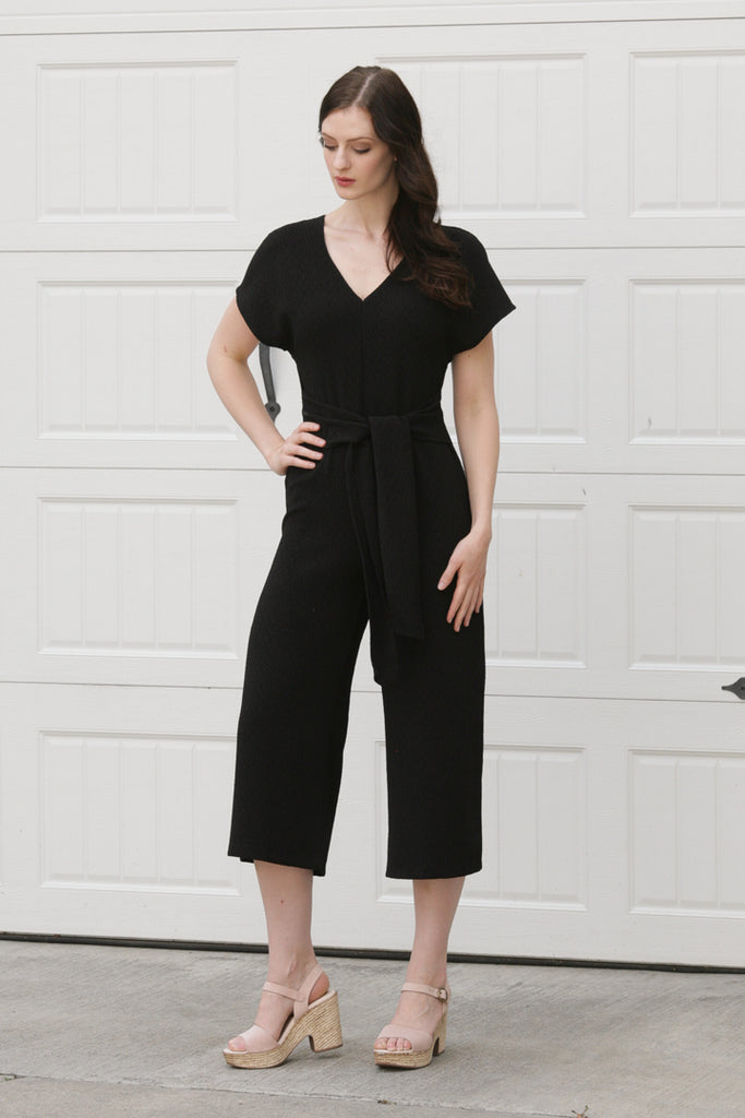 Anais Textured Jumpsuit