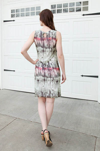 Layered Dress in Asparagus Multi