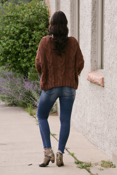 Russet Cable Knit Sweater