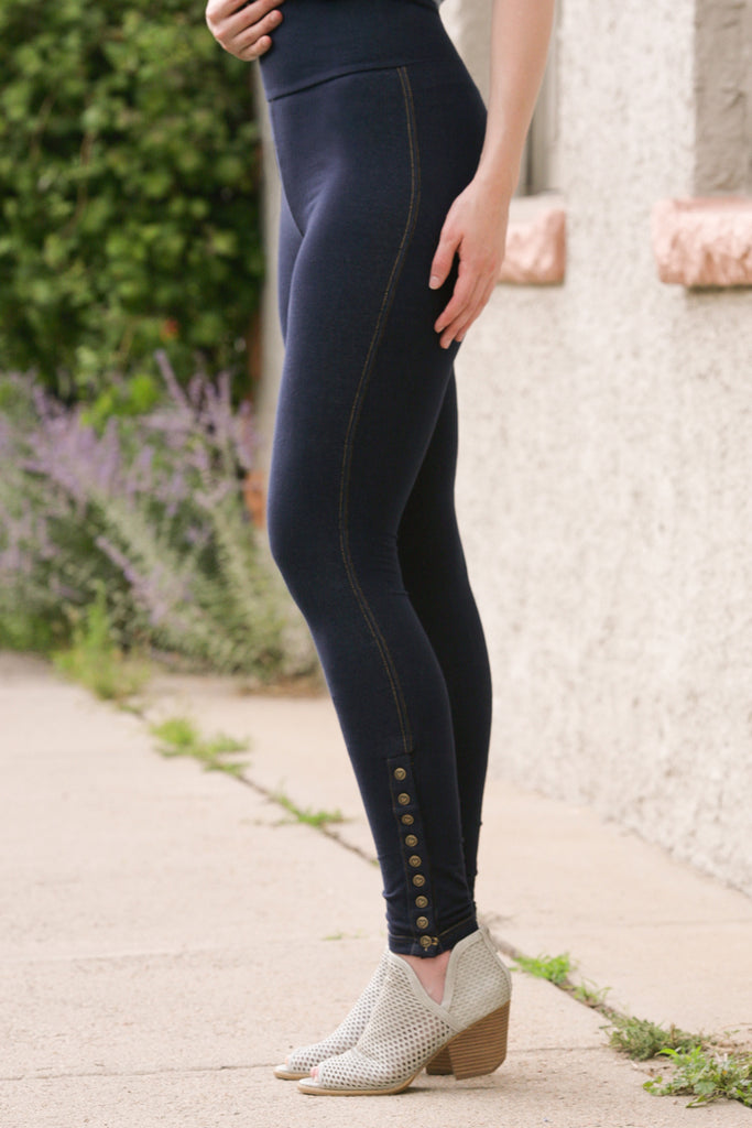 Quartet Leggings in Denim Knit