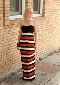 Audrey Crochet Maxi Dress