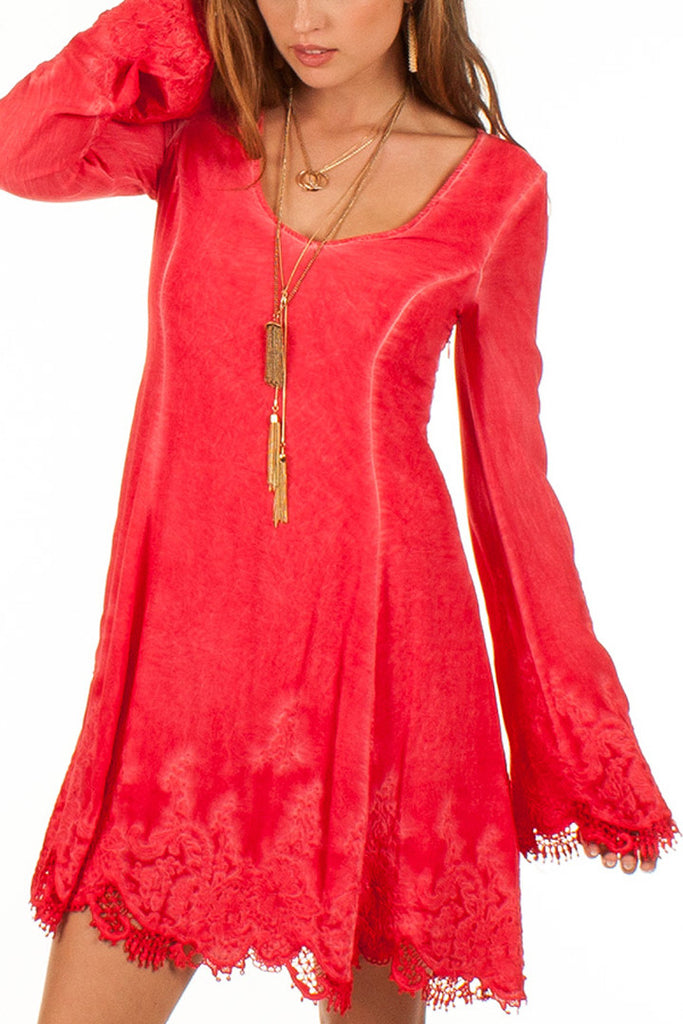 Catrina Dress in Lipstick Red