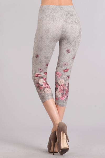 Victoria High Waist Crop Legging in Sandstone