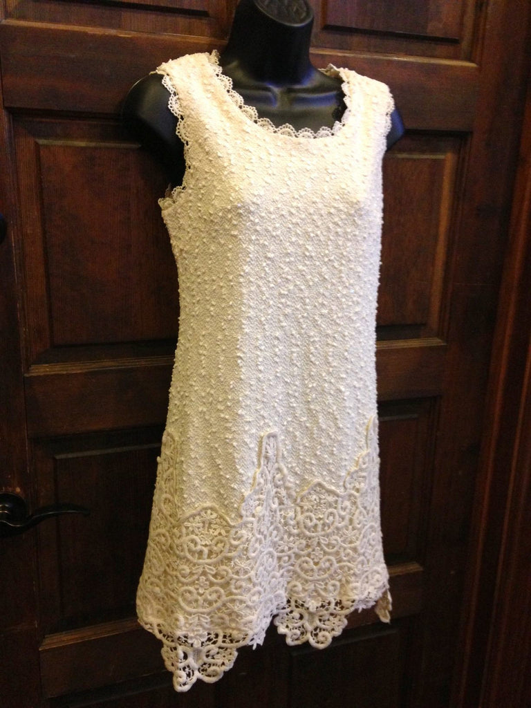 Sequin Dress with Crochet