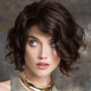 KAMI 058 Affordable Layered Chin Length Curly Bob Wig-KAMI WIGS