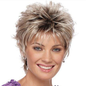 KAMI 005 Affordable Razored-Top Short Wavy Layered Wig for Ladies-KAMI WIGS