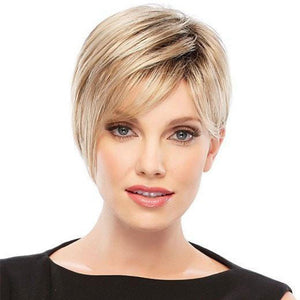 KAMI 024 Natural Sassy Layered Short Straight Wig with Bangs-KAMI WIGS