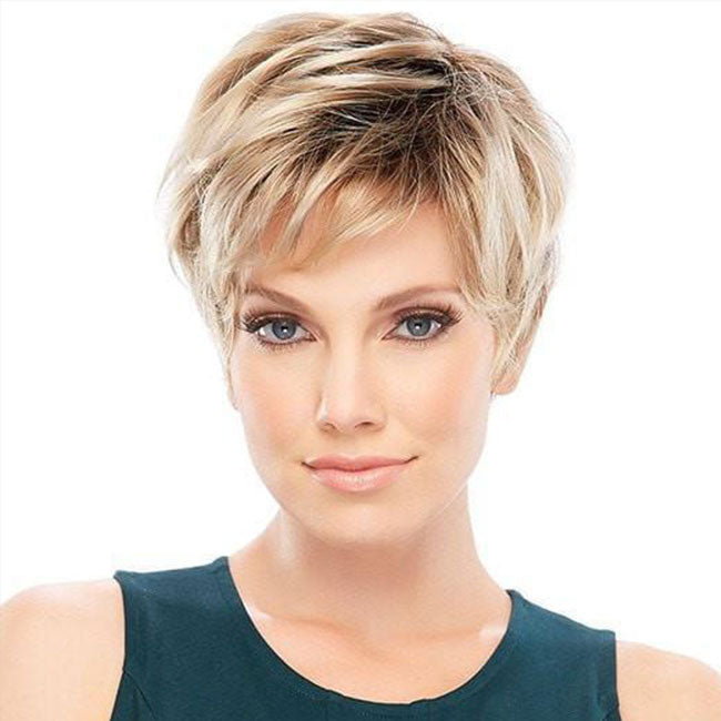 KAMI 010 Pixie Cropped Short Layered Synthetic Wig for Women-KAMI WIGS