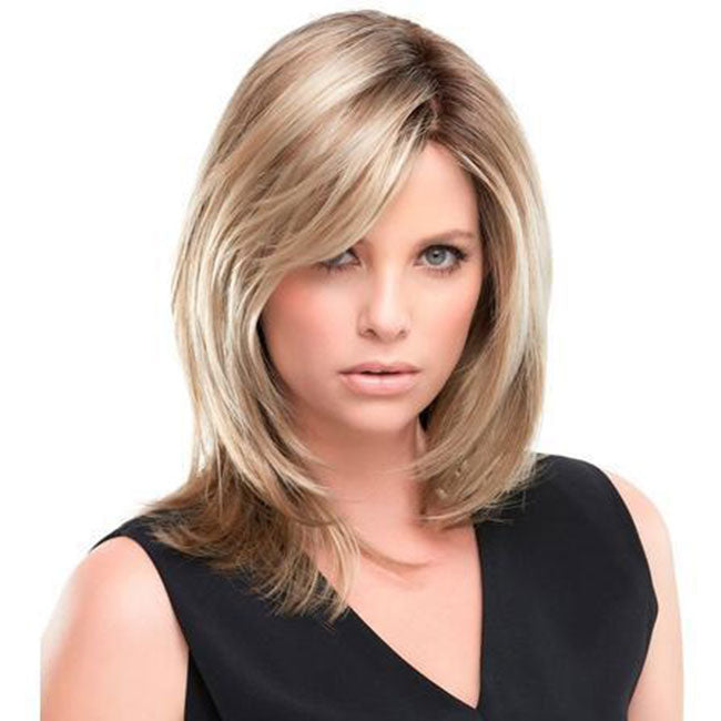 KAMI 098 Layered Shoulder Length Straight Synthetic Bob Wig for Women-KAMI WIGS