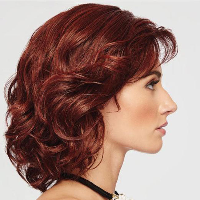 KAMI 040 Sassy Collar-Length Curly Synthetic Bob Wig for Women-KAMI WIGS