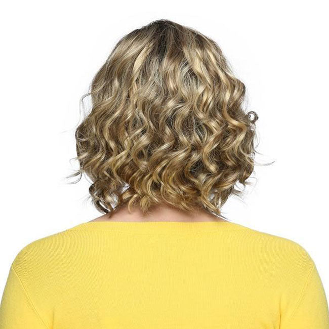 KAMI 050 Sassy Chin Length Curly Bob Synthetic Wig for Women-KAMI WIGS
