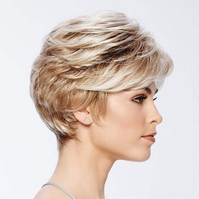 KAMI 030 Boycuts Short Layered Straight Wig for Women-KAMI WIGS