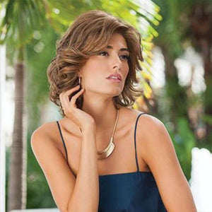 KAMI 059 Feminine Layered Chin Length Curly Synthetic Bob Wig-KAMI WIGS