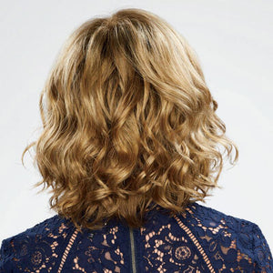 KAMI 040 Blonde Wavy Bob Wigs no Bangs Chin Length Curly Hair Wig for Women