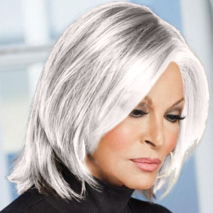 KAMI 061 Chin Length Straight Short Bob Wig no Bangs Natural Looking Hair Wigs For White Women