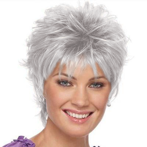 KAMI 005 Affordable Razored-Top Women Short Wavy Layered Pixie Wig for Ladies