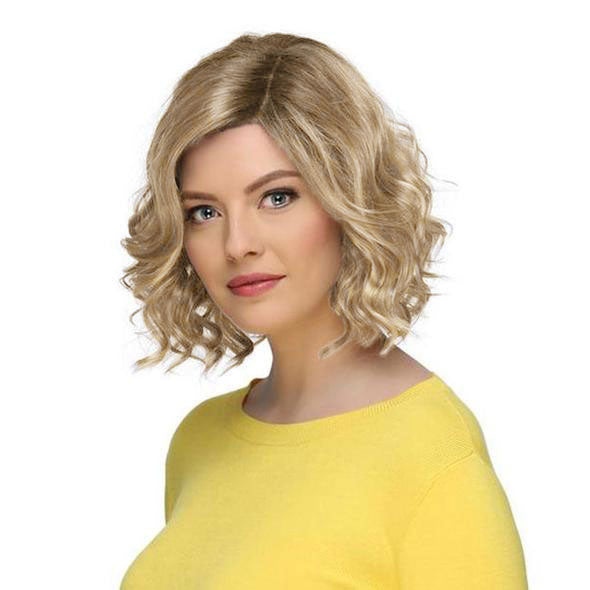 KAMI 050 Cheap Hair Wigs For Women Sassy Chin Length Curly Bob Wig for White Women