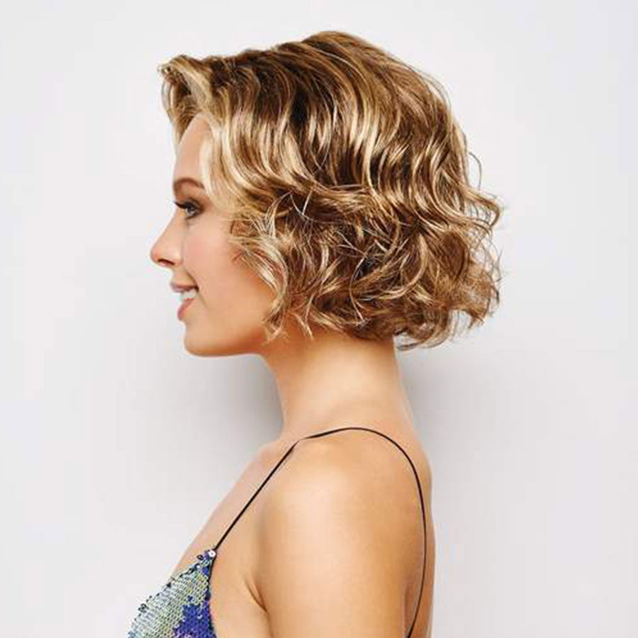 KAMI 103 Fringeless Chin Length Curly Synthetic Bob Wig-KAMI WIGS