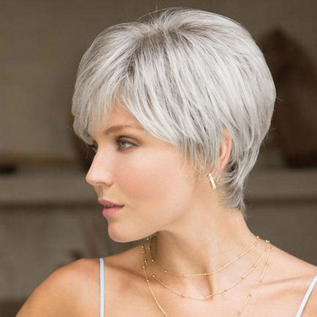 KAMI 086 Layered Pixie Cut Short Straight Cropped Wig for Women