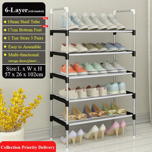 Simple Over the Door Shoe Rack with Handrail