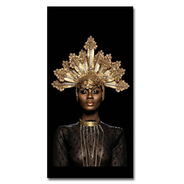 Canvas Prints Modern Black Woman Model Painting Wall Art Poster And Prints Pictures Home Decoration For Living Room No Frame