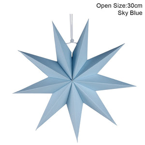 1pc New Year Decoration 60cm 24'' Xmas Hanging Paper Star Lantern Christmas Ornaments Festival Christmas Decoration For Home