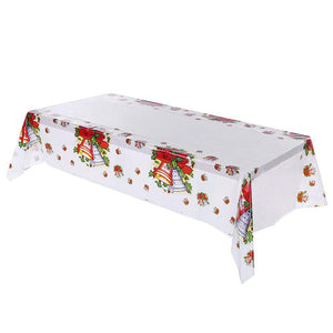 New Year Christmas Tablecloth Kitchen Dining Table Decorations