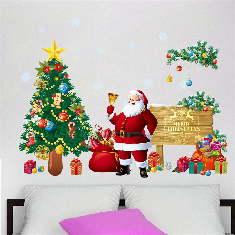 DIY Merry Christmas Removal Vinyl Wall Stickers Decoration