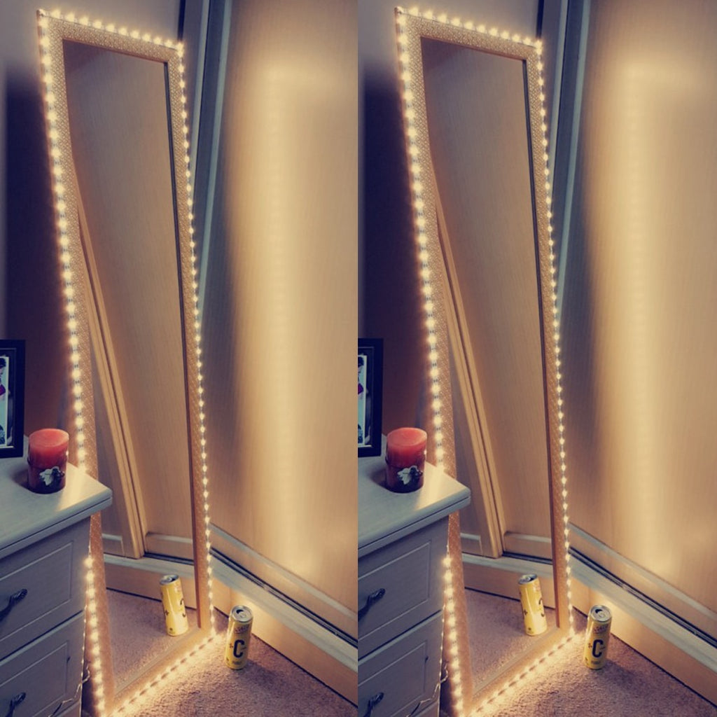 Vanity Makeup Mirror Light 5V USB LED Flexible Tape USB Cable Powered Dressing Mirror Lamp Decor