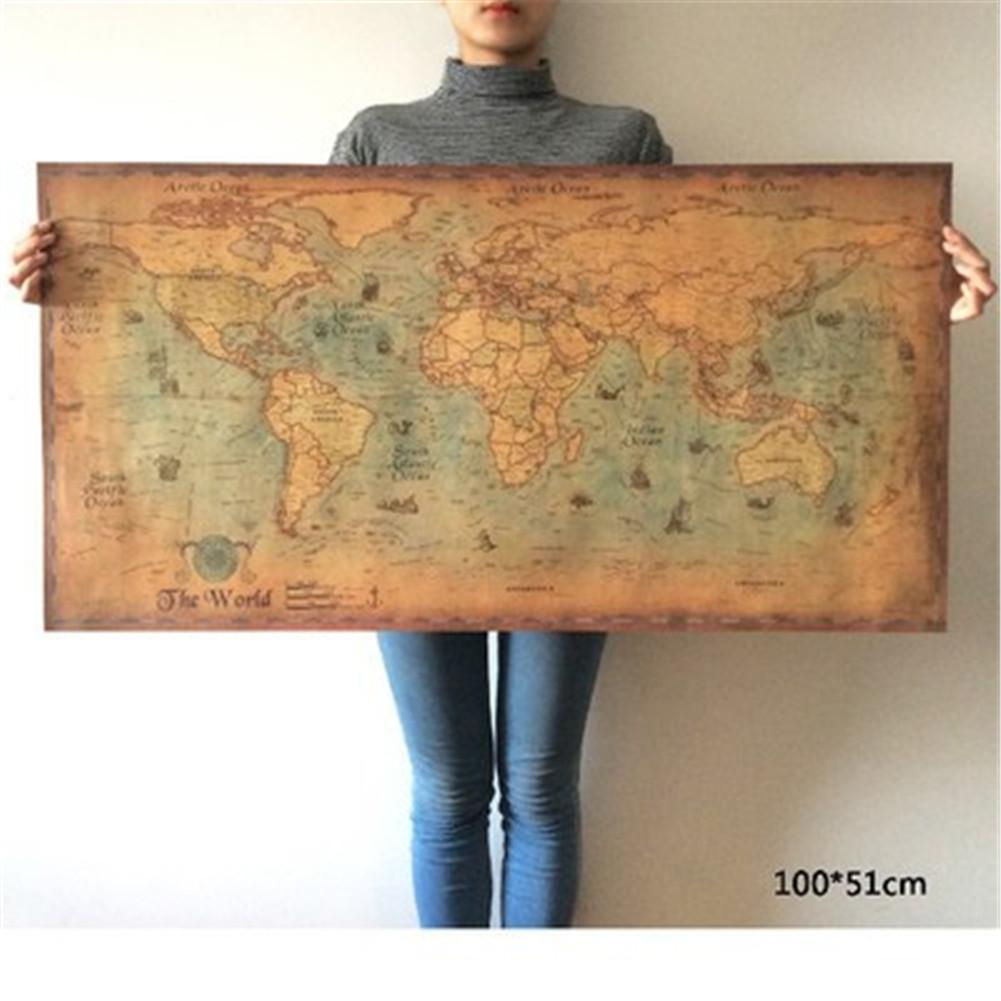 Portugal Nautical Illustration Nautical Sea World Map Retro Old Art Paper Painting Supplement Home Decoration Poster Wall Art