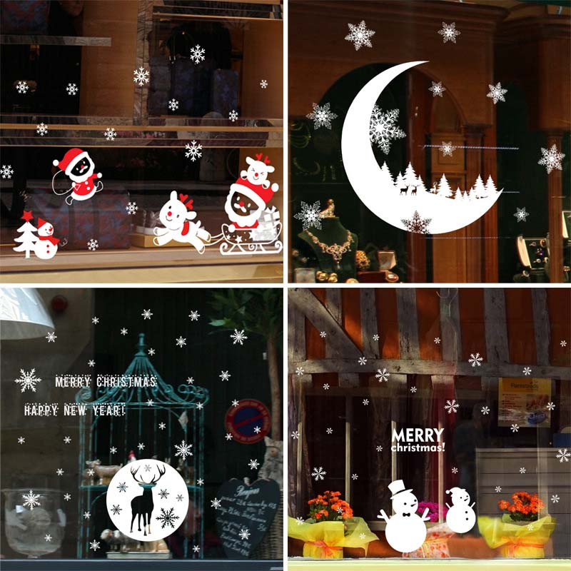 Removable Christmas/New Years Window Stickers