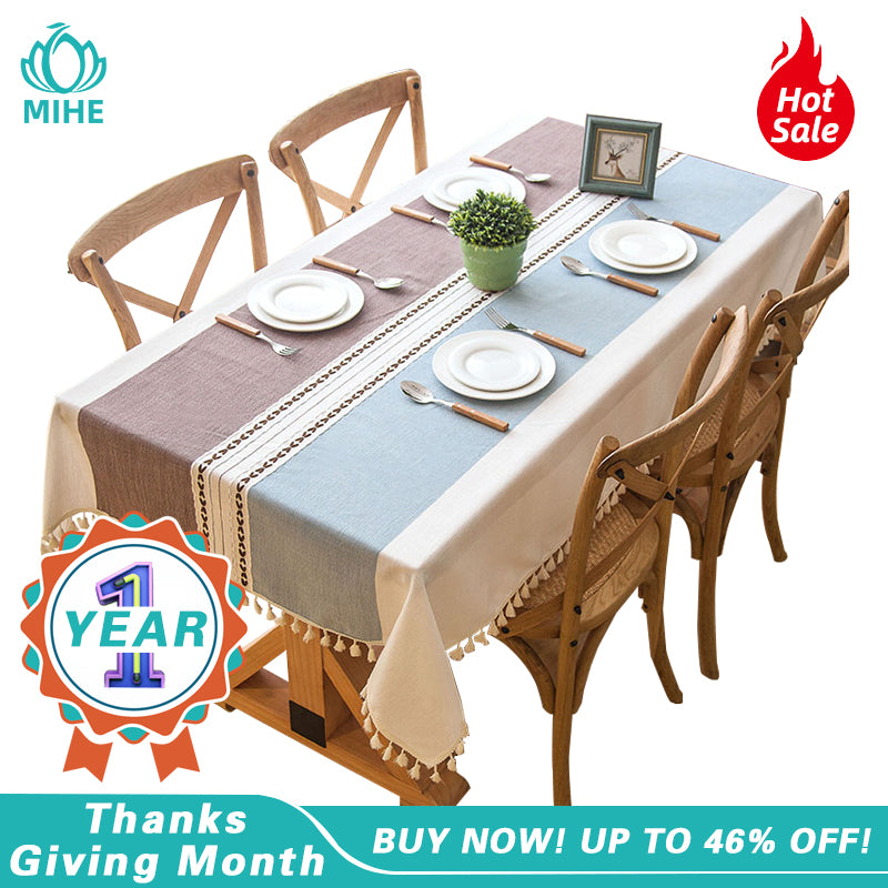 Modern Decorative Table Cloth Tassel Lace Rectangle Tablecloth Home Kitchen Table Cloths Party Banquet Dining Table Cover ZB01