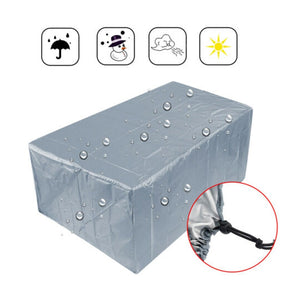 Waterproof 210T Furniture Cover For Garden Rattan Table Cube Chair Sofa All-Purpose Dust Proof Outdoor Patio Protective Silver