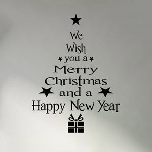 1 Pcs Merry Christmas Tree Snowman Christmas New Year Shop Window Wall Sticker White Red Christmas Decorations Snowflake Party
