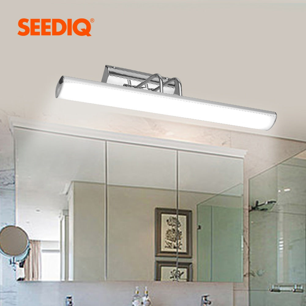 Modern LED Mirror Light Wall Lamp Bathroom  Stainless Steel Waterproof Led Wall Light fixture Vanity Light