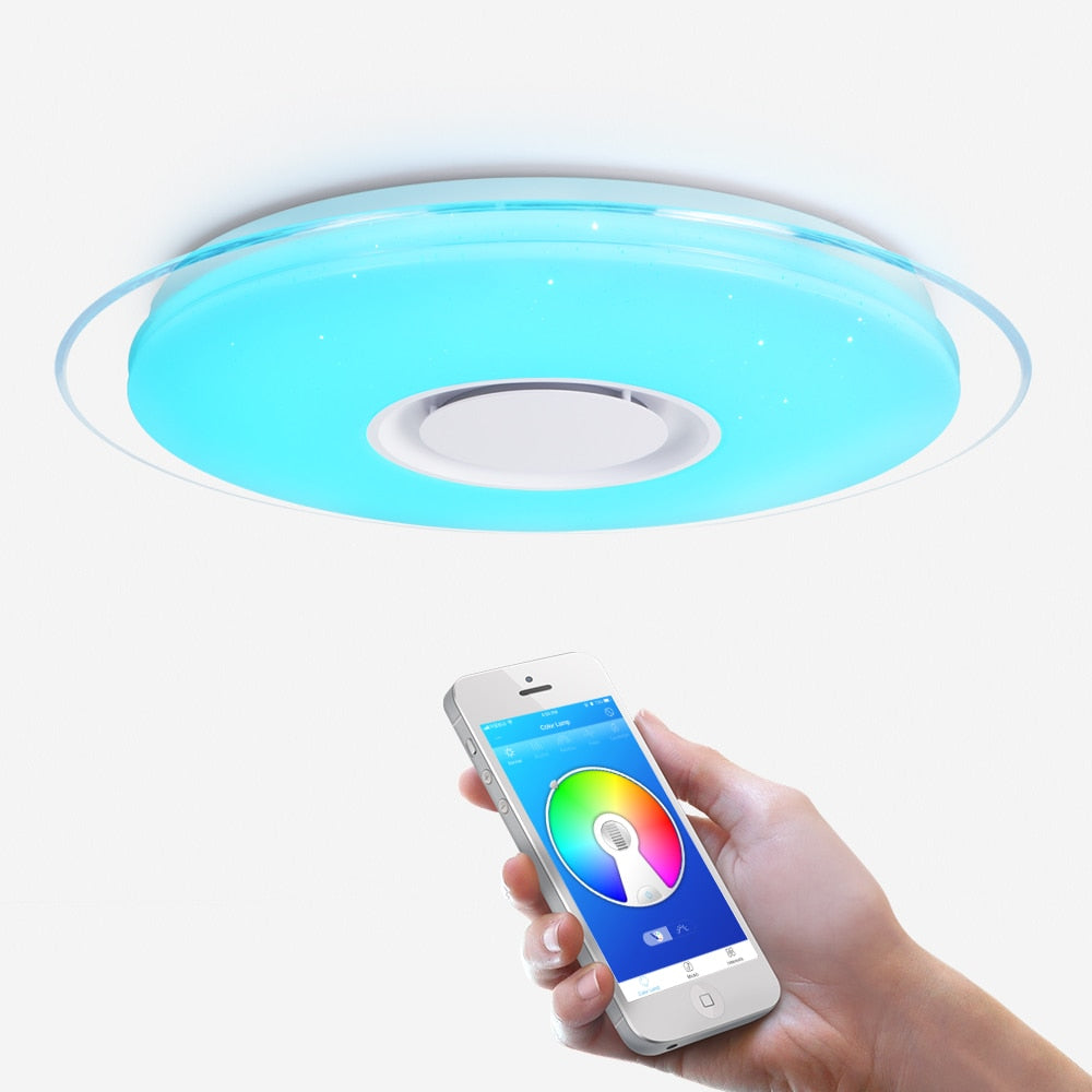 Modern LED Ceiling Light Bluetooth Speaker APP Control RGB Dimming Bedroom Living Room Kitchen Children Room Light Ceiling lamp